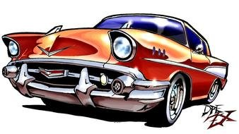 Chevy Car drawing