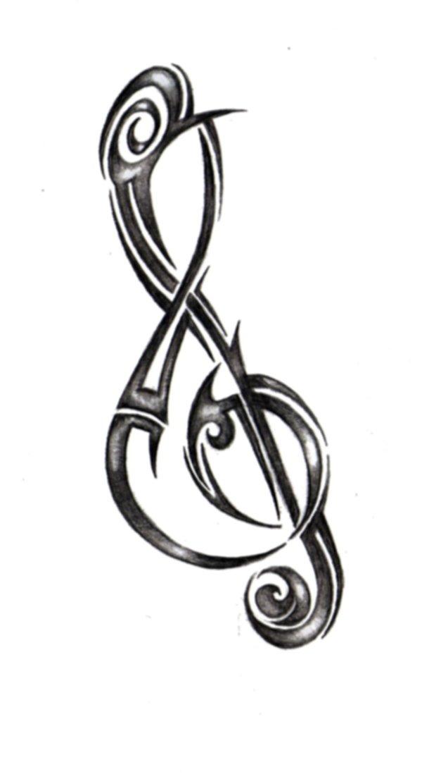 Treble Clef Tattoo Drawing Free Image