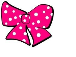 Pink Minnie Mouse Bow drawing
