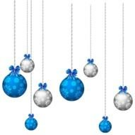 Blue Christmas Ornaments drawing