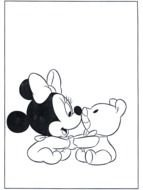 baby Minnie Mouse with teddy