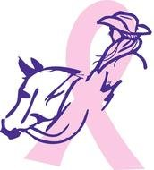 pink Brain Cancer Ribbon drawing