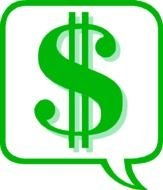 Clipart of green dollar sign