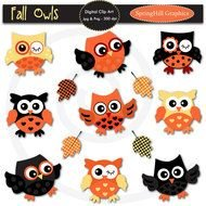 Clip Art of welcome owls