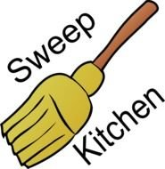 Chore Sweep Kitchen At Clkercom Vector Online