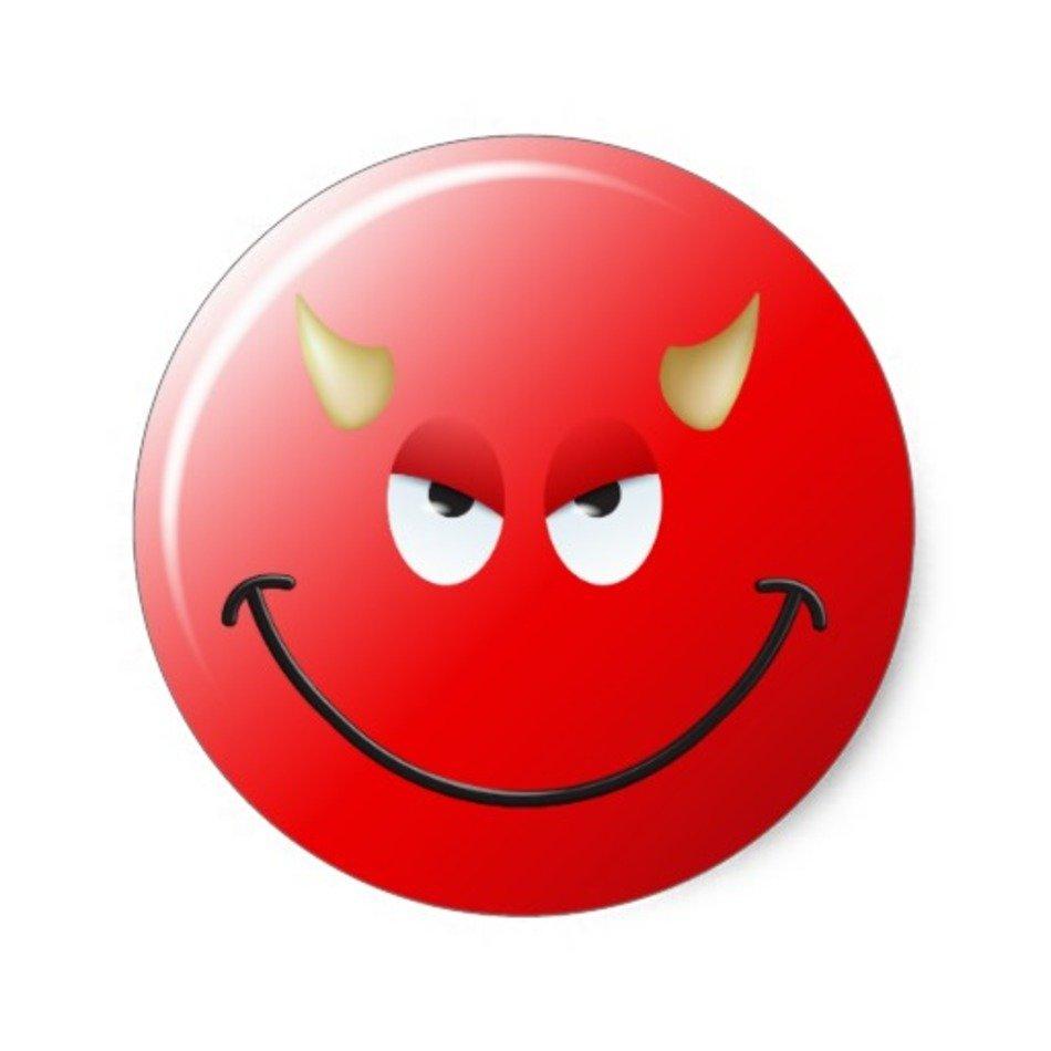 Visage De Smiley Diable Sticker Rond Zazzle Free Image