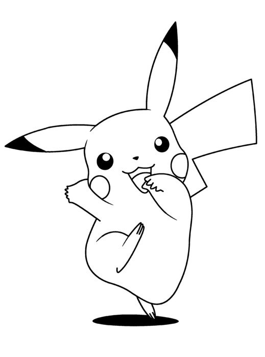 coloring page with Pokemon