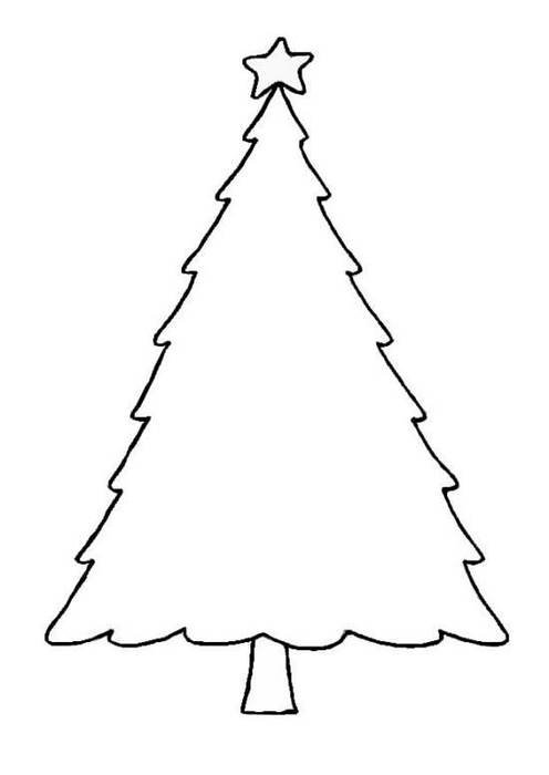 image regarding Tree Outline Printable named Blank Xmas Tree Define Printable Template Pics cost-free