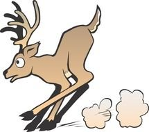 Clipart of Animated Cartoon Deer