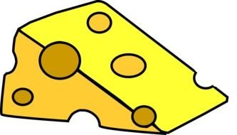 Cheese Slice clipart drawing