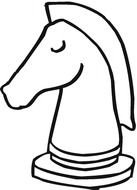 Black and white drawing of the chess piece clipart