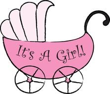 it\'s a girl clip art