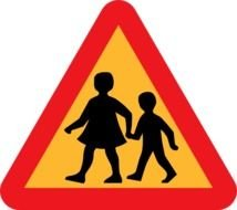 And Parent Crossing Road Sign At Clkercom Vector