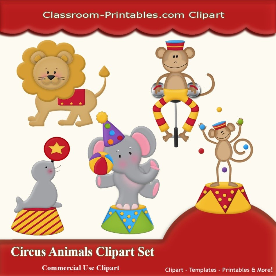 Drawings Of Circus Animals Free Image Download