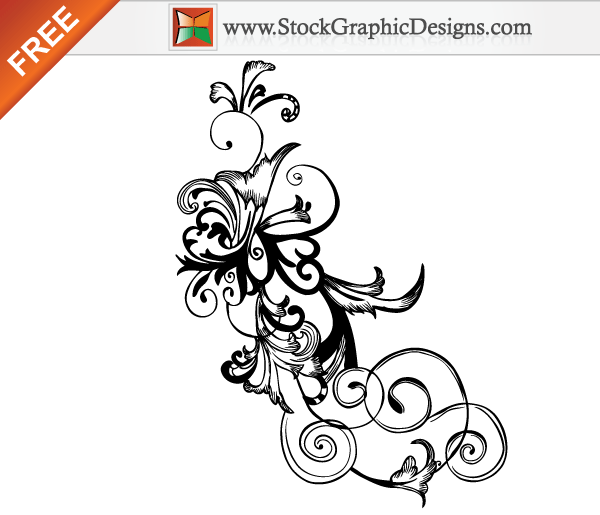 Swirl Floral Vector Free Graphics Download Clip Free Image