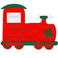 Colorful Christmas train clipart