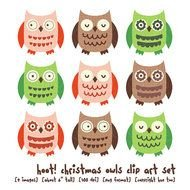 colorful owls drawing