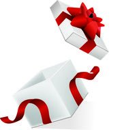 Clipart of the open gift box