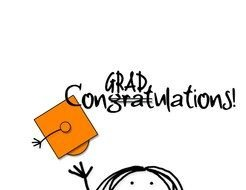 grad congratulations, funny drawing