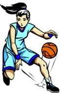 Clipart of the basketball player girl