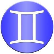gemini symbol as a picture for clipart