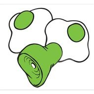 clipart of the green eggs and ham