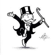 Clipart of Monopoly Man