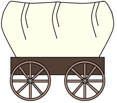 vintage Horse Pulling Wagon, drawing