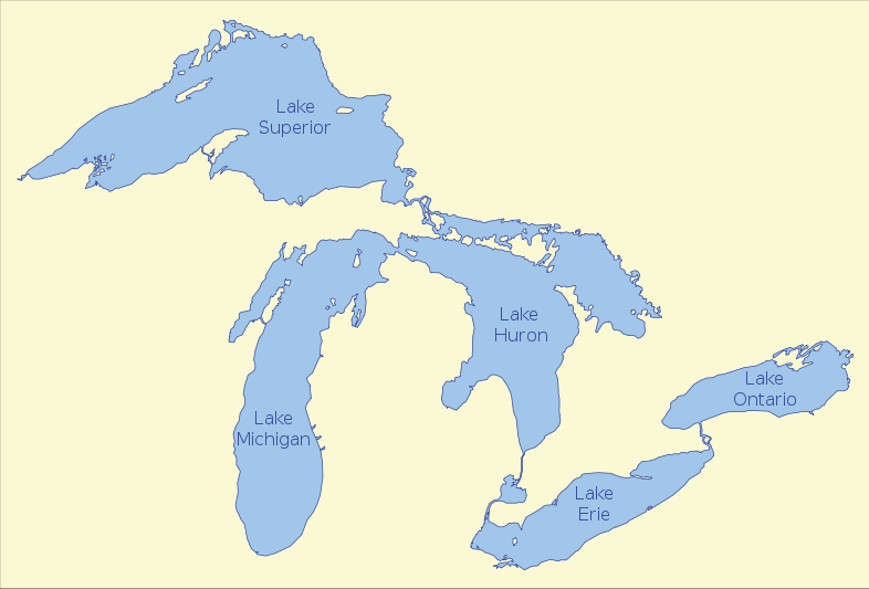 Map Of The Great Lakes Physical Maps Canada Kids free image