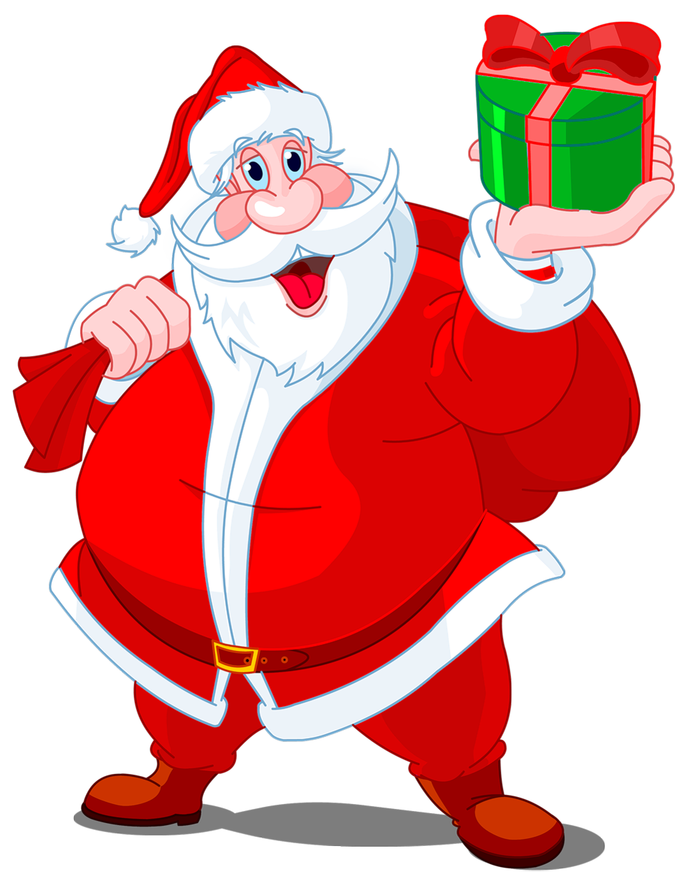 It is an image of Printable Santa Claus pertaining to cartoon