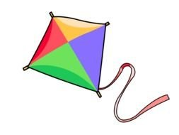 clipart of the colorful kite