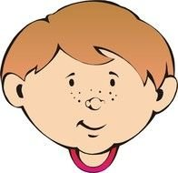 clipart of head of red-haired boy