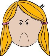 angry face for clipart