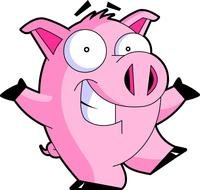 clipart of the domestic pink pig