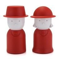funny red salt and pepper shakers