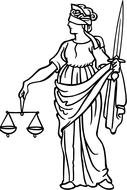 Clip Art of Justice lady