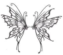drawing of two butterflies