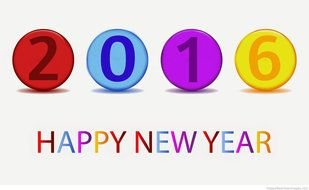 Clipart of 2016 Happy New Year sign