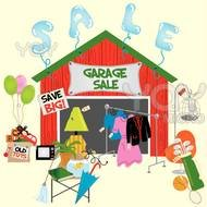 Clipart of the garage sale