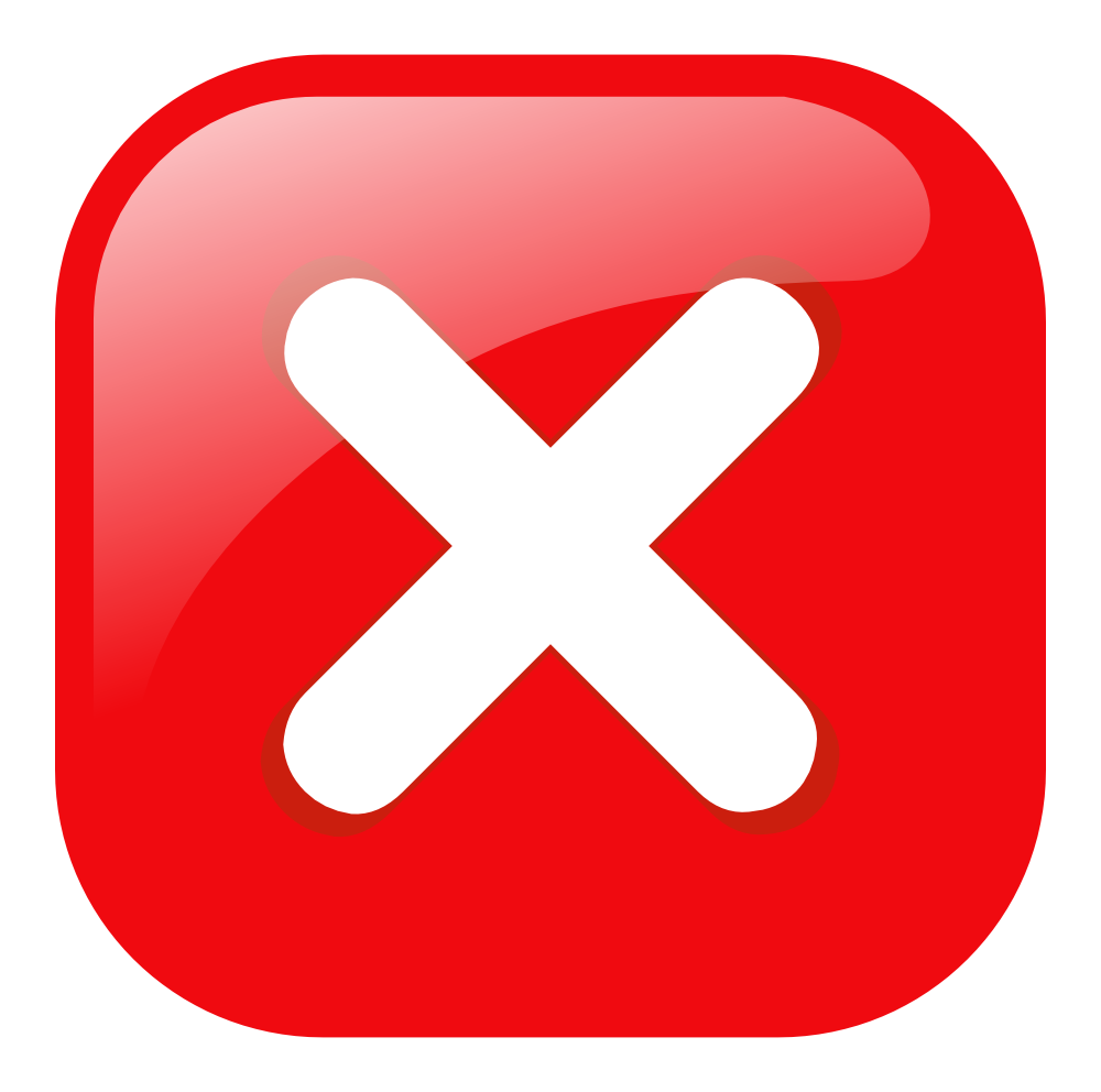 Multiplication sign on red button free image