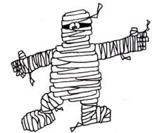 Cartoon Mummy drawing