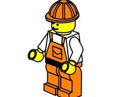 Worker lego drawing