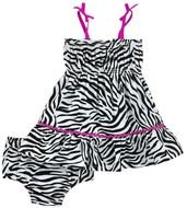 Pink zebra Girl dress