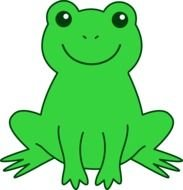 Cute green Frog drawing