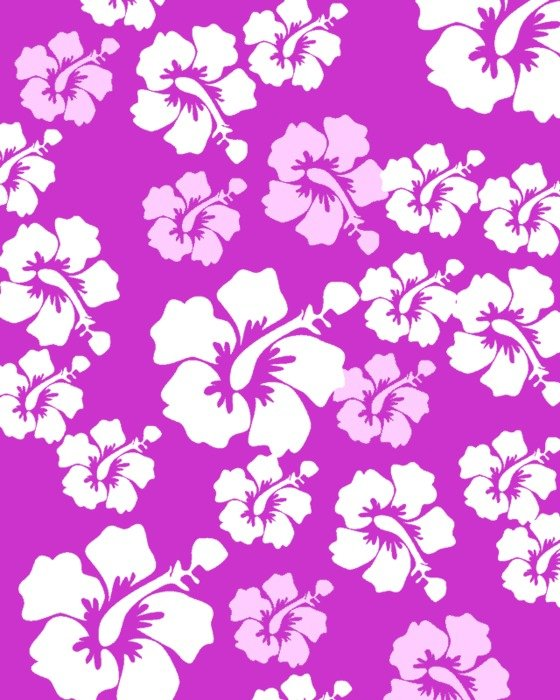 floral pattern on the purple background