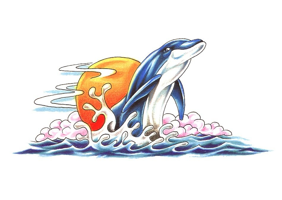 tattoo designs with dolphin