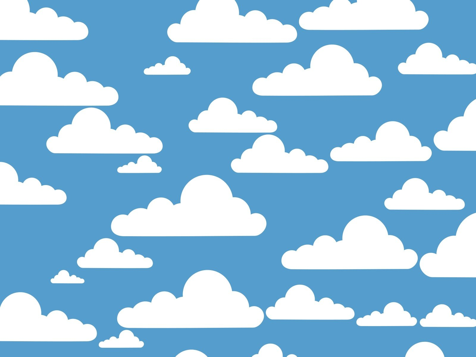 wallpaper with simple white clouds
