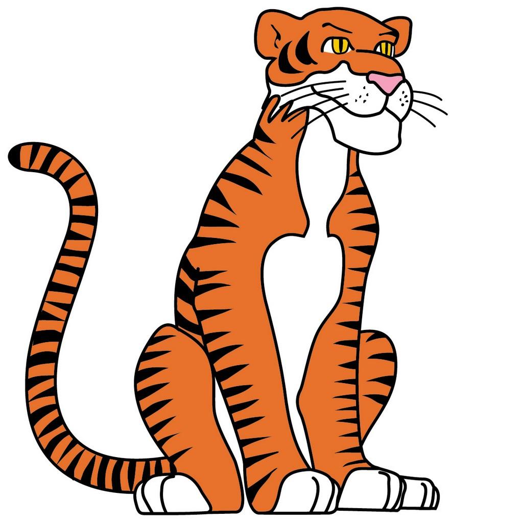 Tiger Cartoon Bilder Foto 1024 X Resolution Clipart Free Image