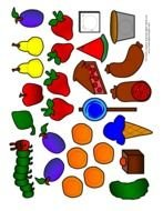 clipart with fruits and food