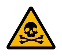 Hazardous Materials Sign And Toxic